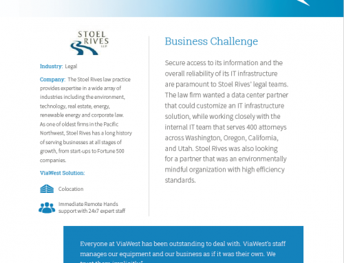 Stoel Rives LLP (Viawest) – Industry Case Study