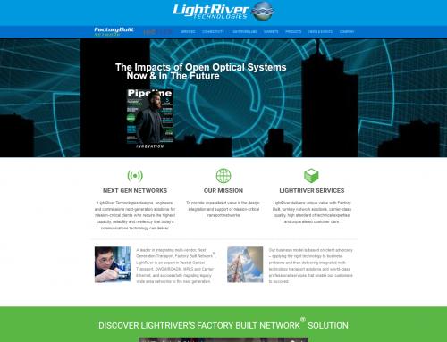 LightRiver- Company Website Design