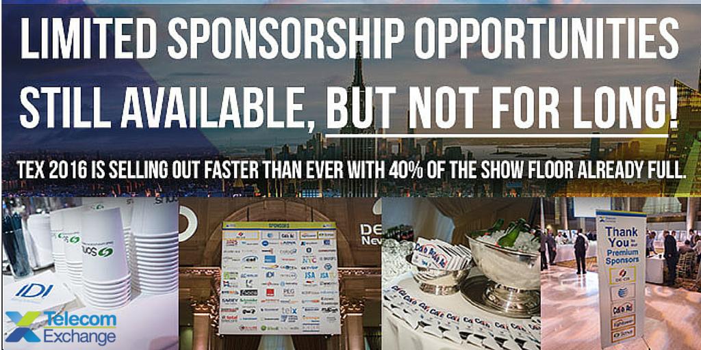TEX 2016 Sponsorships