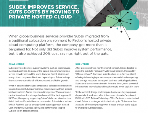 Faction – Subex Case Study