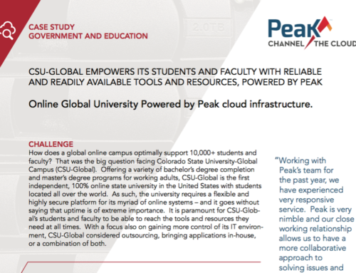 Peak Channel – CSU-Global Case Study