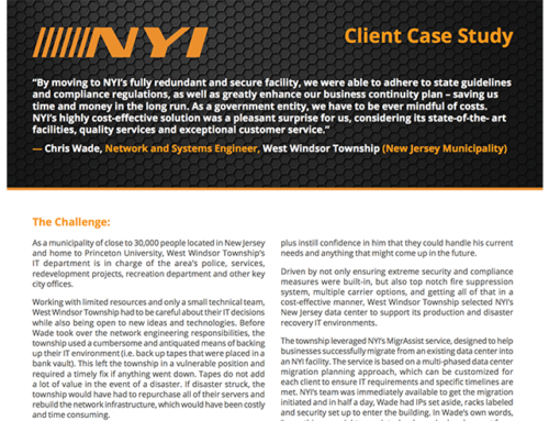 NYI – West Windsor Township Case Study