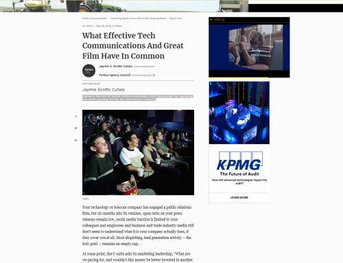 What Effective Tech Communications And Great Film Have In Common (Forbes Agency Council)