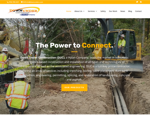 Down Under Construction – Company Website Redesign