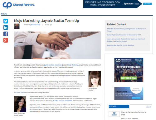 Mojo Marketing, Jaymie Scotto Team Up (Channel Partners)