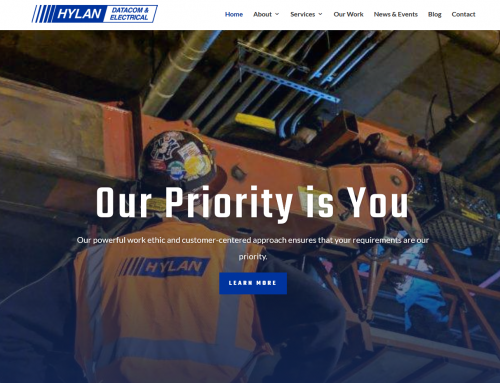Hylan Datacom & Electrical – Company Website Redesign