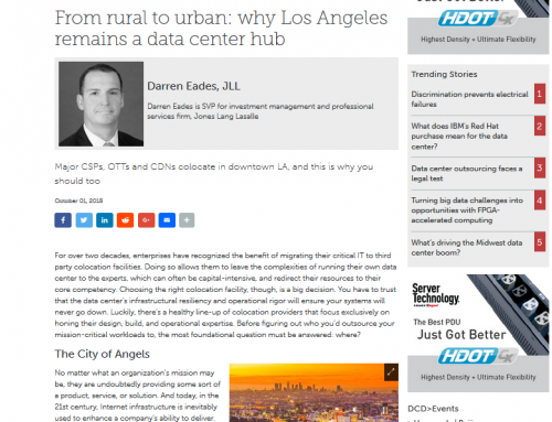 From rural to urban: why Los Angeles remains a data center hub (DatacenterDynamics)