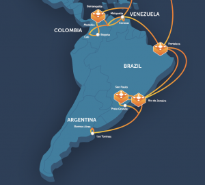 GlobeNet Route Map