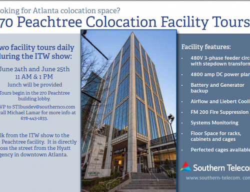 Atlanta Colocation Facility Tours with Southern Telecom During ITW 2019