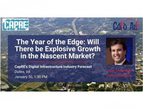 Colo Atl General Manager to Participate in Edge Computing Panel at CAPRE Event Jan. 30