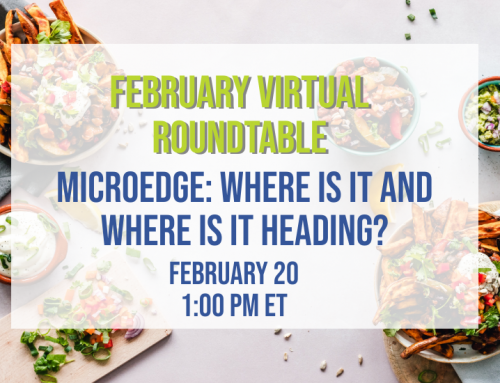 Lunch is On JSA for the February Virtual Roundtable | MicroEdge: Where Is It & Where Is It Heading